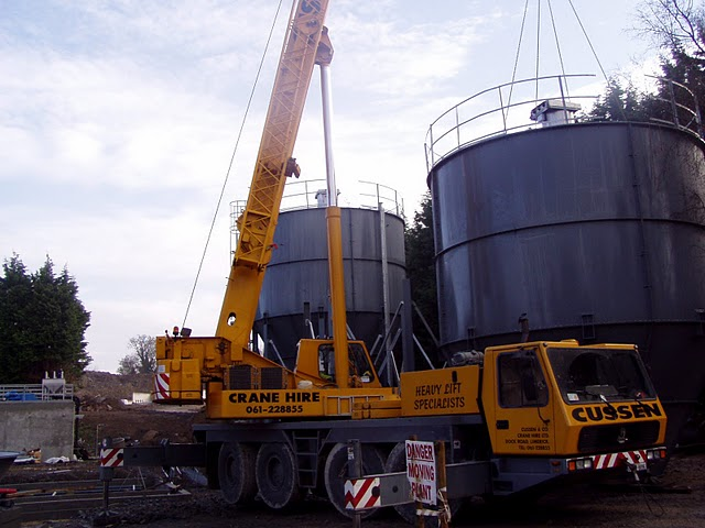 Waste Water Treatment Hydrated Lime Silos - V-Mac-Silos