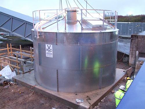 Wood Pellet Store Bio Mass Plant - V-Mac Silos - McAree Engineering Ltd
